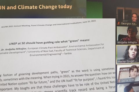 EASD and European Climate Pact Ambassador participate at ACUNS Annual Meeting