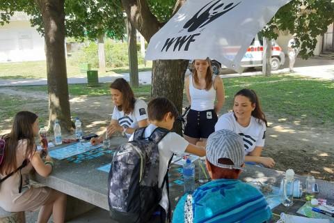 Obrazovna aktivnost u okviru programa Plava zastava: Vodeni eksperimentarijum na Adi Ciganliji