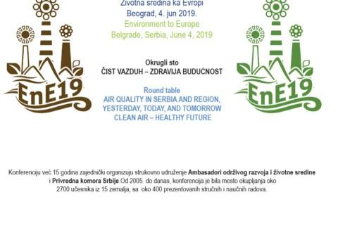 Poziv za 4.juni 2019.:Okrugli sto ČIST VAZDUH – ZDRAVIJA BUDUĆNOST – upoznajte se sa nacrtom dnevnog reda