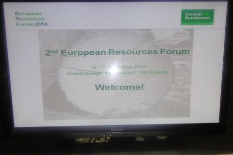 Učestvujemo na ERF 2014 – Evropskom Forumu o resursima, Berlin 10-11.novembar 2014. godine