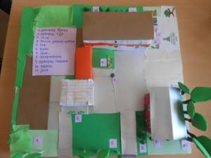 mapa stanista biljaka u dvoristu