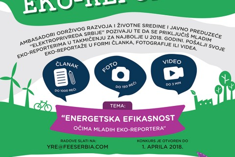 Poziv za takmičenje u 2018. godini: postani (i ostani) Mladi eko-reporter!