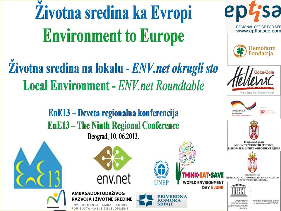 Poziv za medije za 10 juni zna ajno partnerstvo za bolje for Environmental management bureau region 13