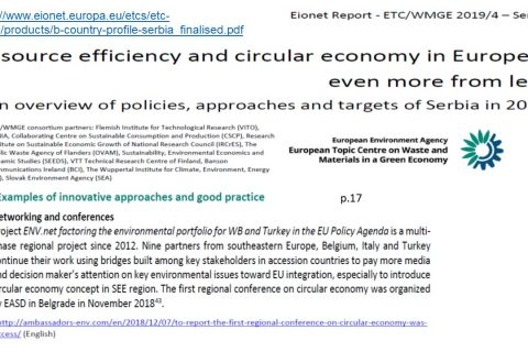 Country factsheets on resource efficiency and circular economy in Europe: EASD activities mentioned