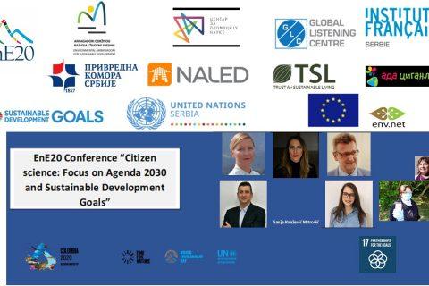 """5. juni 2020. – EnE20 Konferencija """"Građanska nauka: fokus na Agendu 2030 i Ciljeve održivog razvoja"""""""